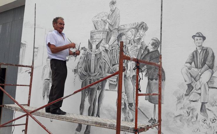 Las pinturas de Marcelino García dan vida a Moraleja de Cuéllar