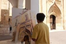 Benigno Rodríguez gana el certamen de pintura al aire libre de Rioseco