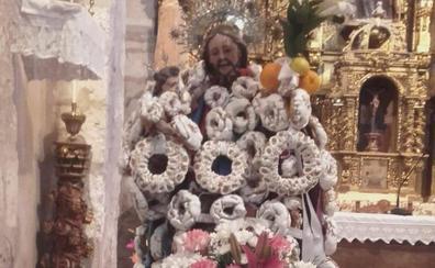 Los vecinos de Dehesa de Cuéllar llenarán de rosquillas la imagen de San José
