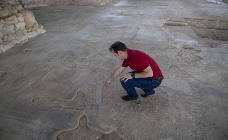 El mosaico de Noheda, en imágenes
