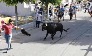 Un multitudinario encierro y el toro del cajón llenan las calles de Campaspero
