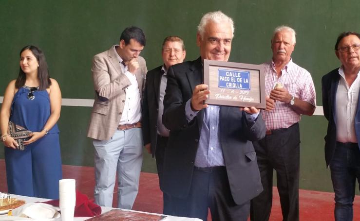 Peñaflor de Hornija dedica una calle a Paco el de La Criolla