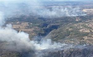 La Junta baja a nivel 0 el incendio declarado en Salamanca, cerca de los Arribes