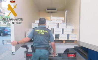 La Guardia Civil interviene 549 kilos de cangrejo rojo vivo en Herrera de Pisuerga