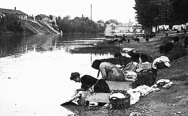 Estampas del Valladolid antiguo (XIV): lavanderas en el Pisuerga