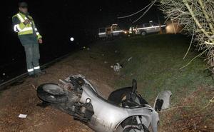 El 7,7% de los fallecidos en accidente de tráfico en Palencia es motorista