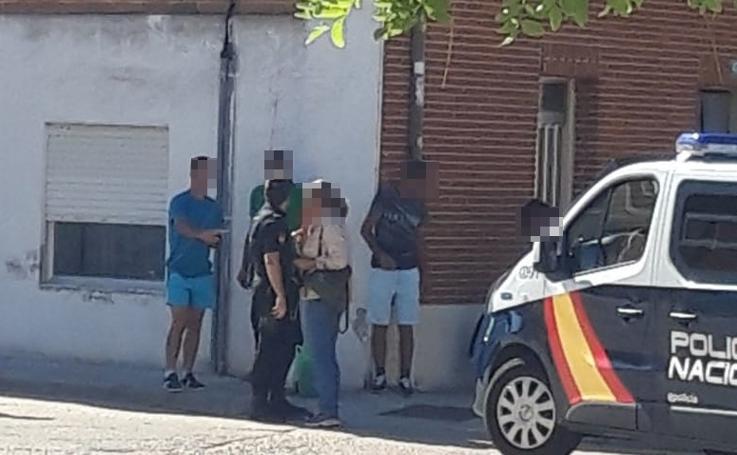 Comprobación policial en La Seca