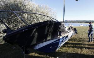 Dos personas heridas por la explosión de una barca en el embalse de la Cuerda del Pozo