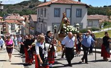Procesión de la Virgen en Cervera de Pisuerga