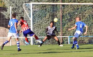 Primera alineación reconocible de La Granja ante el Atleti juvenil (1-1)