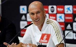 Zidane: «Voy a contar con todos los que están aquí»