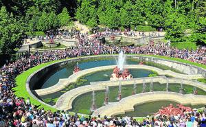 Los juegos de agua de las fuentes de La Granja tendrán un aforo limitado a partir de 2020