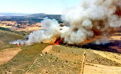 La Junta rebaja a nivel 0 y da por controlado el incendio de Serradilla del Arroyo
