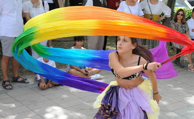 Exhibición de danza del vientre en la Feria Renacentista de Medina del Campo