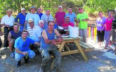 La hacendera popular en Sigueruelo culmina la construcción del muro en el nuevo paseo