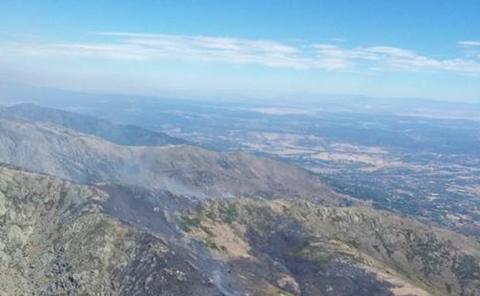 La mano del hombre podría estar tras el incendio de El Raso, en Ávila