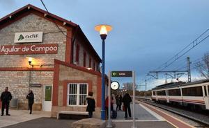 Un enganchón de catenaria interrumpe el tráfico ferroviario entre Mataporquera y Aguilar de Campoo durante cinco horas