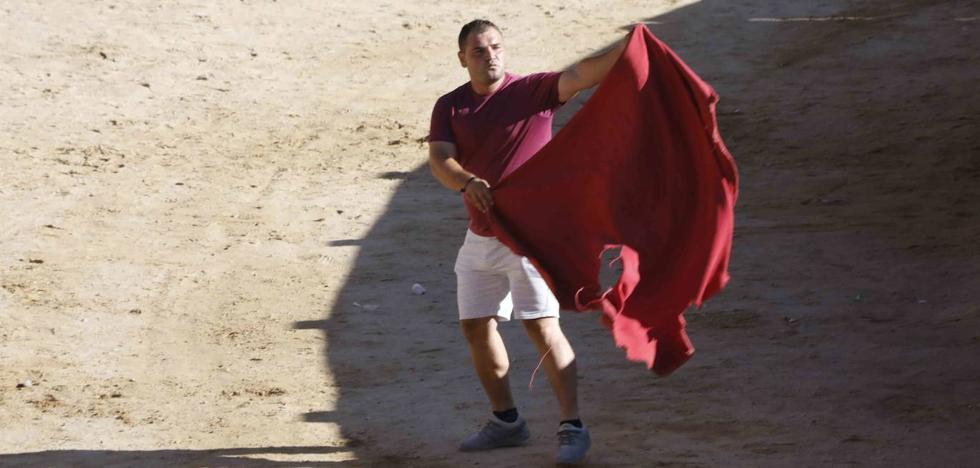 Rubén Abad, cortador: «La plaza del Coso es complicada; los despistes se pagan muy caro»