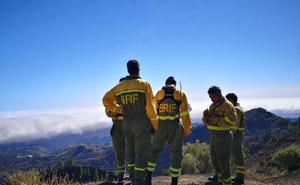 Castilla y León lucha contra el fuego en Gran Canaria