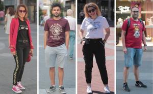 Camisetas con mensaje en los 'looks' de los vallisoletanos