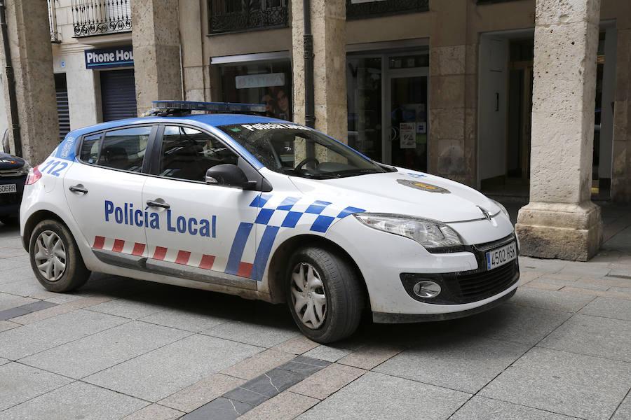 La Policía Local de Palencia media en un conflicto entre un padre y su hijastra