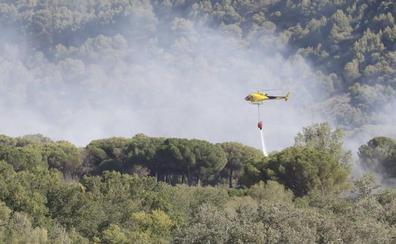 Incendio en un pinar próximo a Bocos de Duero, Valladolid