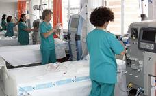 El tercer turno de hemodiálisis permite que 74 pacientes reciban su tratamiento en el hospital de Palencia