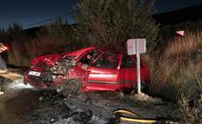 Dos conductores heridos tras chocar frontalmente en la provincia de Valladolid