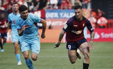 Osasuna y Eibar se reparten los puntos en un duelo de brega y físico