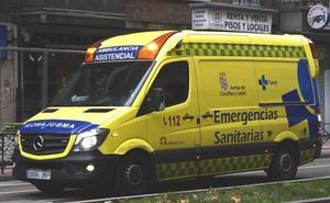 Herido tras sufrir un vuelco con una furgoneta en Tordehumos