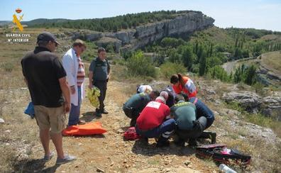 Rescatada en Palencia una montañera madrileña de 58 años en el Cañón de la Horadada