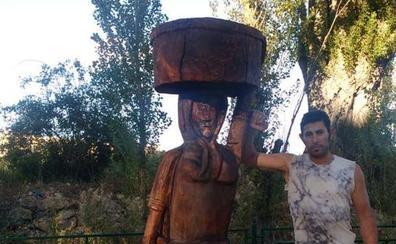 Homenaje escultorio a las lavanderas de Villalba de Alcores