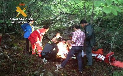 Rescatada una senderista con una pierna rota en la Montaña de Palencia