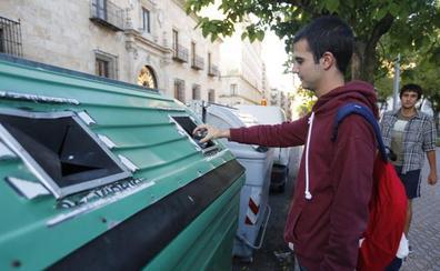 Salamanca es la provincia de la región que menos vidrio recicla por habitante y año