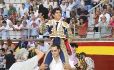 Las ganas de Luis David abren la puerta grande de Palencia