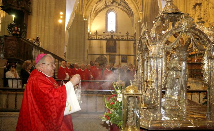 Las obras marcan la celebración de San Antolín en la catedral