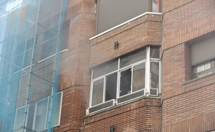 Explosión en una vivienda de la calle San Quirce de Valladolid