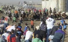 El segundo encierro de San Antolín hace pleno y logra que los seis toros lleguen al coso del Arrabal