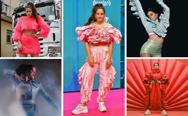 Los 'looks' más atrevidos de la cantante Rosalía