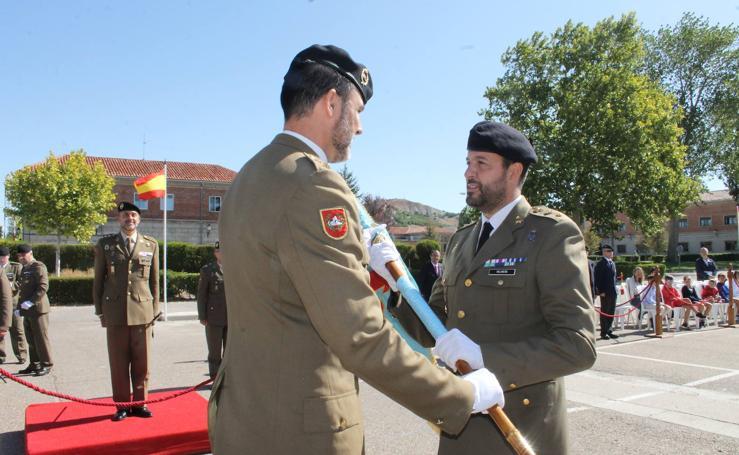 El teniente coronel Carlos Palmero, nuevo jefe del Grupo de Caballería Acorazado 'Villaviciosa'