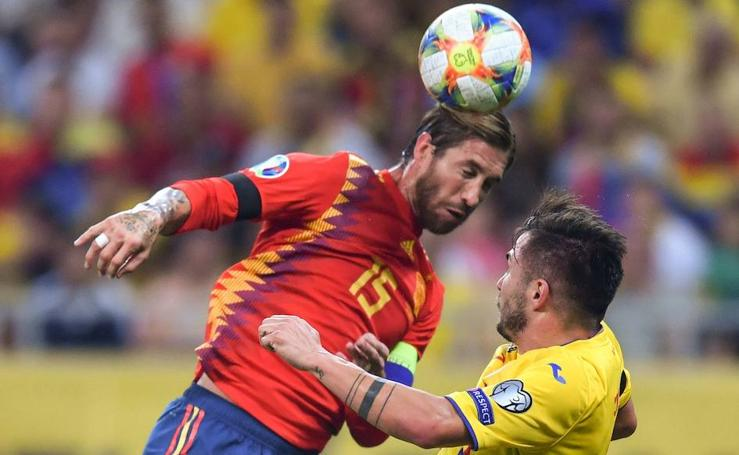 Las mejores imágenes del Rumanía 1-2 España