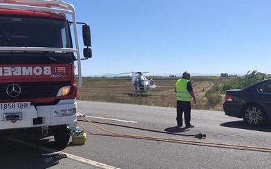 Dos heridos en un choque entre un turismo y una furgoneta en la N-501 en Calvarrasa de Abajo