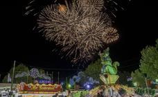Primera sesión de fuegos artificiales de las fiestas de Valladolid