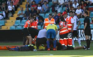 El jugador del Real Unión que perdió la consciencia ante el Salamanca CF estará un par de semanas de baja