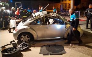 Herido un conductor novel bajo los efectos del alcohol y las drogas tras chocarse contra una farola en Burgos