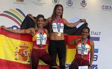 Carolina García, del CAV, subcampeona europea de los 400 vallas