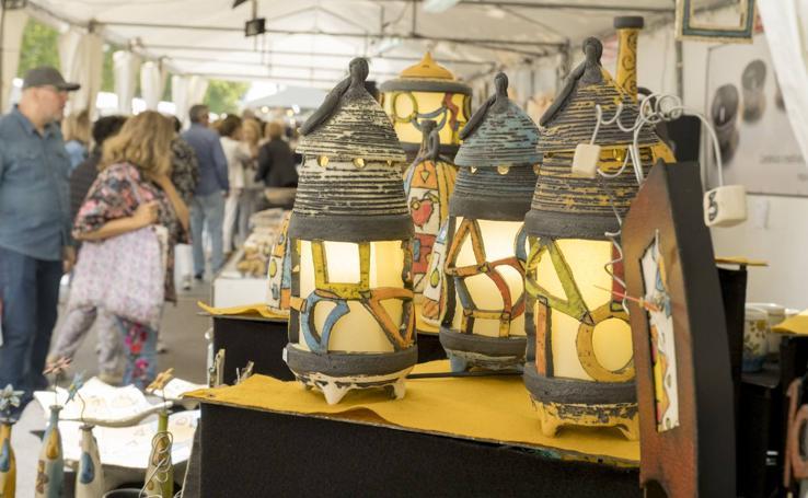 Feria de Cerámica y Alfarería en el Paseo Central del Campo Grande