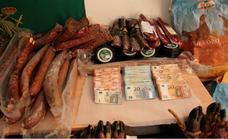 La Guardia Civil desarticula un punto de cultivo de marihuana en Los Rábanos y recupera jamón y embutido robado