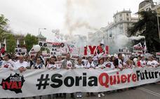 La Plataforma ¡Soria Ya! visibiliza sus reivindicaciones durante la Vuelta España a su paso por Soria