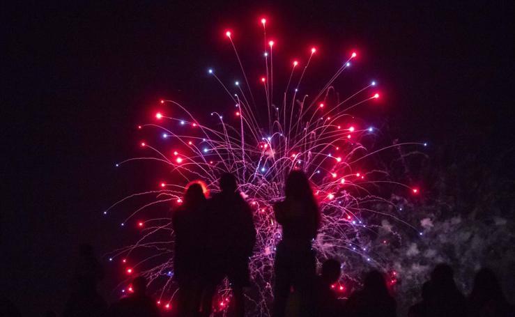 Cuarta sesión de fuegos artificiales de las fiestas de Valladolid